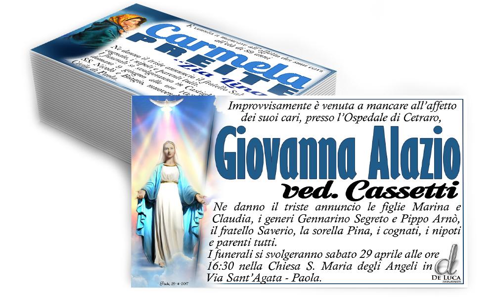 manifesti annuncio morte immagine religiosa icona Madonna