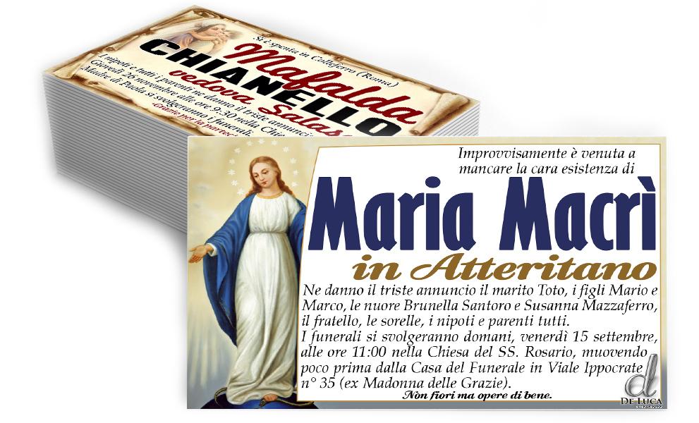 manifesti annuncio morte Madonna Gesù bambino